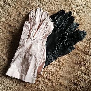 Vintage leather gloves 2 pr $10